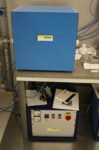 Picture of Big blue tube furnace